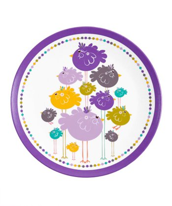 Purple Bird Family Plate