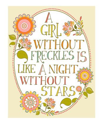 Pink 'Girl Without Freckles' Print