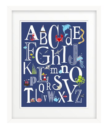 Navy Nautical 'ABC' Giclée Print