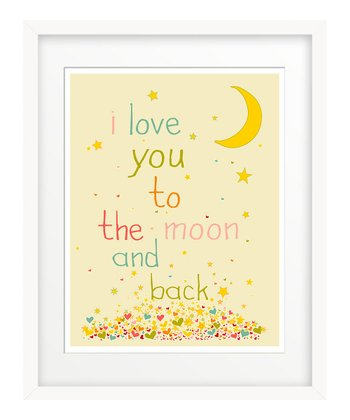 Pink 'I Love You to the Moon' Art Print