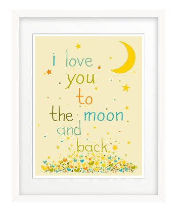 Blue 'I Love You to the Moon' Giclée Print