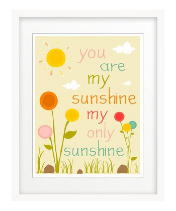 'You Are My Sunshine' Flower Garden Giclée Print