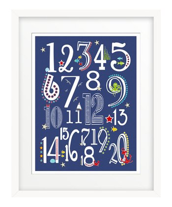 Navy Nautical '123' Giclée Print