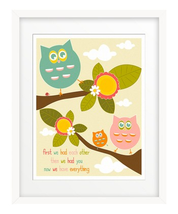 Owls 'Now We Have Everything' Giclée Print