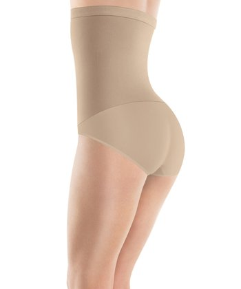 Nude High-Waist Shaper Briefs - Women & Plus