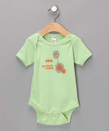 Apple Green 'Ceiling Fan' Bodysuit - Infant