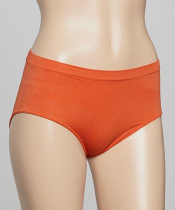 Burnt Orange Seamless Shaper French-Cut Briefs
