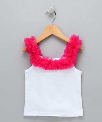 Raspberry Ruffle Tank - Infant, Toddler & Girls