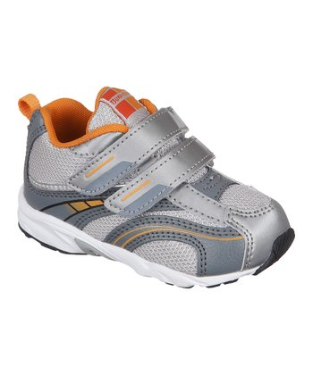 Silver & Orange Baby Flame Sneaker