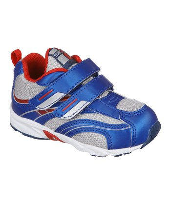 Royal Blue & Silver Baby Flame Sneaker