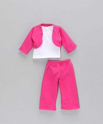 Hot Pink Shrug Doll Outfit