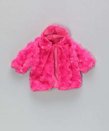 Hot Pink Minky Doll Coat