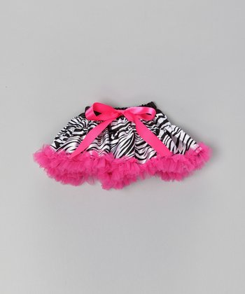 Pink Zebra Doll Skirt