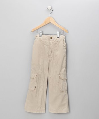 Khaki Twill Cargo Pants - Toddler