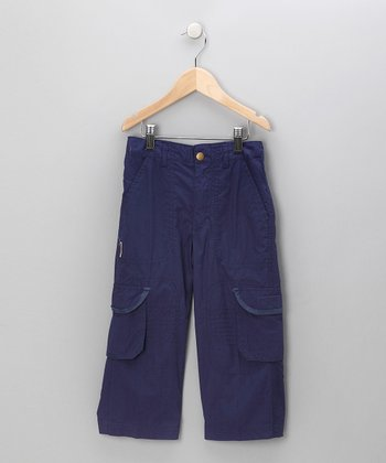 Navy Twill Cargo Pants - Toddler