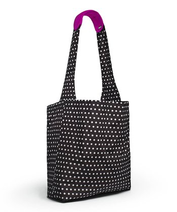 Polka Dot Reusable Shopper Tote