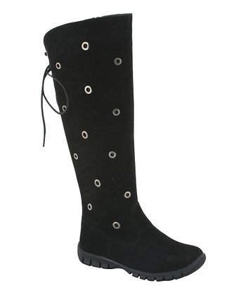 Black Grommet Boot