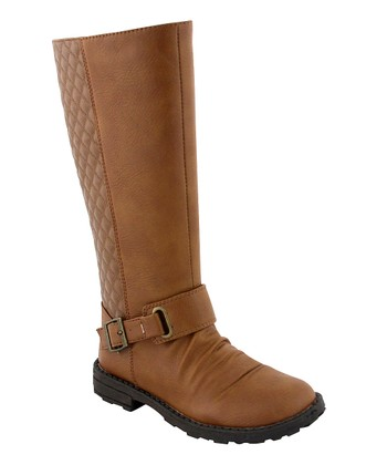 Camel Quilted Boot