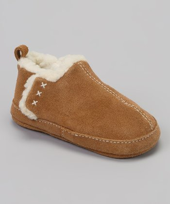 Tan Suede Sherpa Slipper