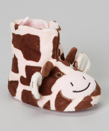 Brown Giraffe Slipper Boot
