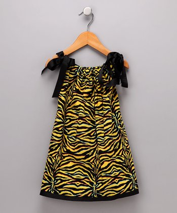 Yellow Zebra Dress - Infant, Toddler & Girls