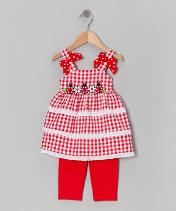 Red Ladybug Tunic & Leggings - Infant & Toddler