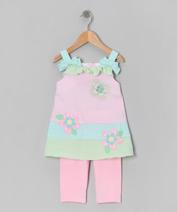 Pink Butterfly Tunic & Leggings - Girls