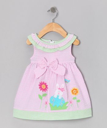 Pink Bunny A-Line Dress - Infant & Toddler