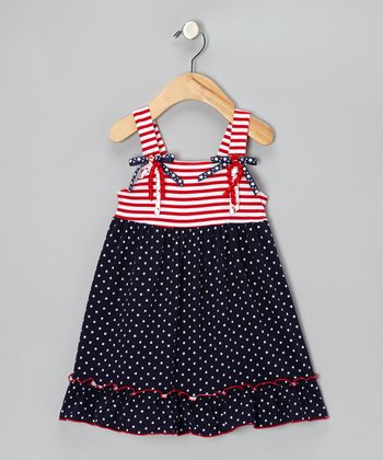 Red, White & Blue Patriotic Dress - Girls