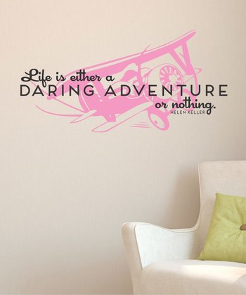 Soft Pink 'Daring Adventure' Wall Decal