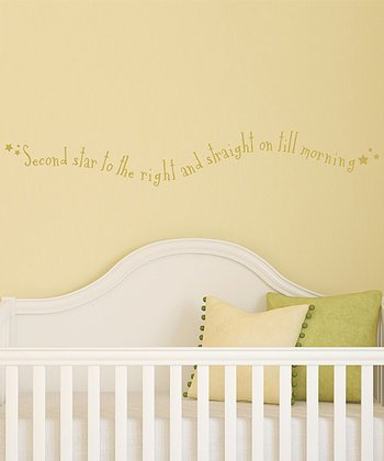 Gold 'Second Star to the Right' Wall Decal
