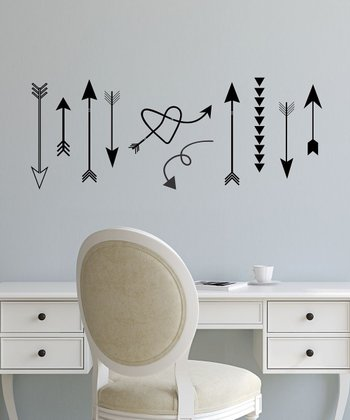 Black Whimsical Arrow Wall Decal Set