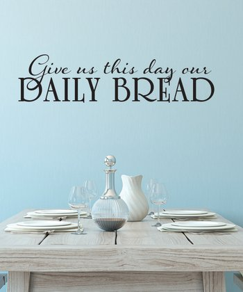 Black 'Daily Bread' Wall Decal