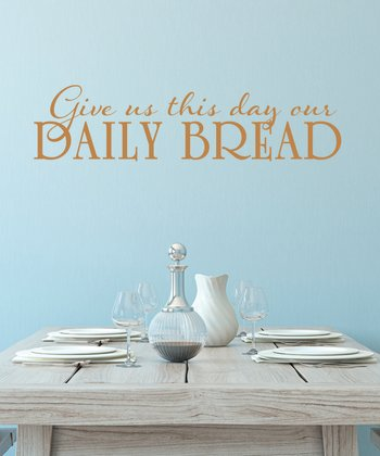 Copper 'Daily Bread' Wall Decal