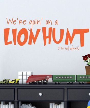 Clementine 'Lion Hunt' Wall Decal