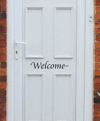 Black 'Welcome' Wall Decal