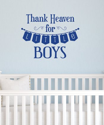 Sapphire 'Thank Heaven for Little Boys' Wall Decal