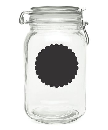 Chalkboard Round Scalloped Label Decal - Set of Eight