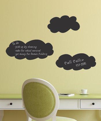 Chalkboard Cloud Wall Decal Set