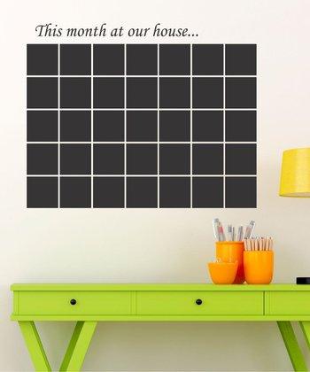 Chalkboard Family Calendar Wall Decal