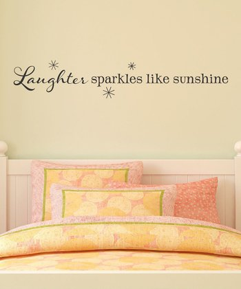 Black 'Laughter Sparkles' Wall Decal