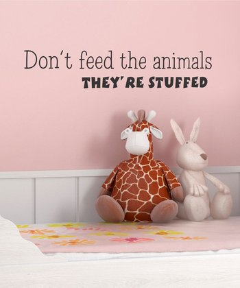 'Don't Feed the Animals' Wall Decal