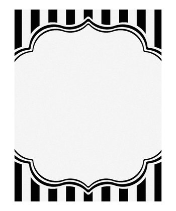 Black & White Printable Invitation - Set of 10