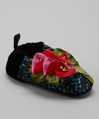 Black Foxglove Slipper - Kids