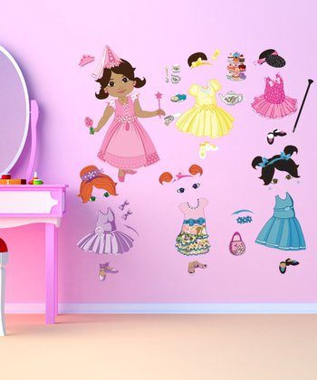 Brown-Haired Doll Wall Decal Set