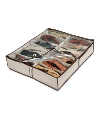 Natural Underbed Shoe Organizer