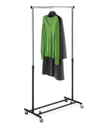 Chrome & Black Folding Garment Rack