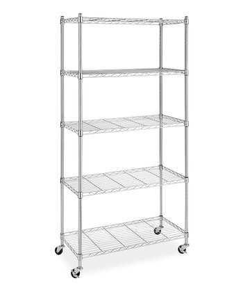 Chrome Supreme Five-Tier Shelf Cart
