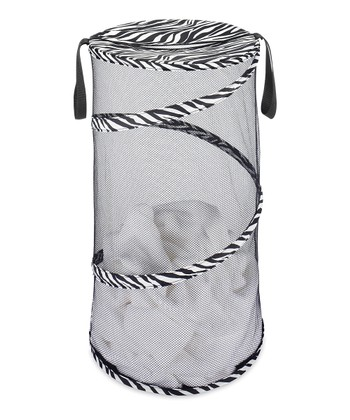 Zebra Collapsible Laundry Hamper