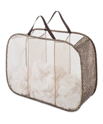 Leopard Pop & Fold Triple Laundry Sorter